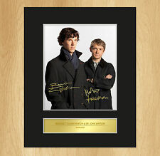 Sherlock Cast Signed Mounted Photo Display Benedict Cumberbatch Martin Freeman