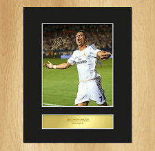 Cristiano Ronaldo Signed Mounted Photo Display Real Madrid FC