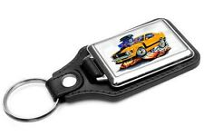 1970 Ford Mustang Boss 302 Car-toon Key Chain Ring Fob NEW