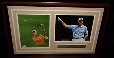 "Jim Furyk Golf Autographed Signed 8x10 Photo in Framed 25"" x 16"" Collage JSA PSA"