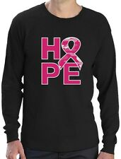 Camo Pink Ribbon Hope Breast Cancer Awareness Long Sleeve T-Shirt Support