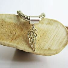 Angel Wing Mini Sterling Silver European-Style Charm and Bracelet- Free Shipping