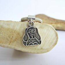 2-D Pooch Silver-Plated European-Style Charm and Bracelet- Free Shipping