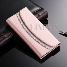 Luxury Crystal Diamond Flip Wallet Magnetic Leather Case Cover For Apple iPhone