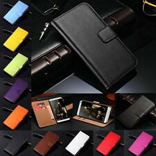 Genuine Real Leather Wallet Flip Case Cover For iPhone 4 4S 5 5S 5C 6 6S Plus