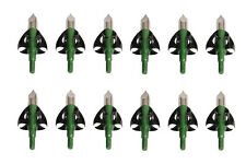New Green 100Grain New Arrowhead Tips Fits Compound Bow Hunting Broadheads