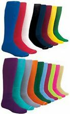 NEW! 12 Pair Solid Sport Socks Baseball Softball Football in Your Color/Size!