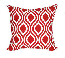 Red Throw Pillow, Nicole Lipstick Red Decorative Throw Pillow, Ogee Print Pillow