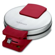 Waffle Maker Classic Round Cuisinart WMR-CAR , Stainless Steel/Red Nonstick