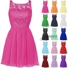 Stock Short Formal Bridesmaid Dresses Evening Cocktail Prom Party Ball Gown 6-20