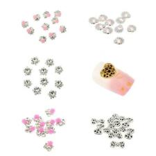 10 x 3D Nail Art Rhinestones Craft Decorations Glitter Crystal Tip DIY Accessory
