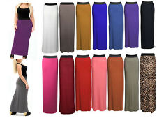 Ladies Womens Gypsy Long Jersey Maxi Dress Summer Skirt Ladies Skirt Size 8-26