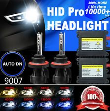 2x Bi-Xenon Conversion Kit HID Headlight Bulb Dual Beam FORD 9007 55W Hi-Lo DBK
