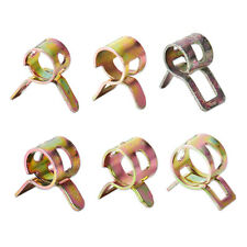 10pcs Spring Clip Vacuum Fuel Hose Line Silicone Pipe Tube Band Clamps Fastener