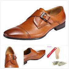 Fashion Vintage Men's Genuine Leather Loafers Comfort Casual Dress Shoes Cap-Toe