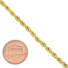 Unisex 3.5mm 14K Yellow Gold-Plated Braded French Rope Chain Necklace