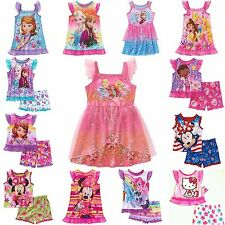 New Disney Toddler Girls Sleepwear Nightgown, Pajamas, Princesses, Minnie Mouse