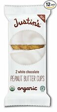 Justin's Nut Butter Organic Peanut Butter Cups - White Chocolate case 12 x 1.4oz
