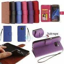 MAGNETIC WALLET STAND FLIP Leather Back Cover Soft Case For Samsung Galaxy Phone