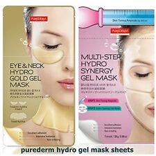 PUREDERM Hydro gel mask pack sheets,wrinkle-care,brightening,Anti-ageing