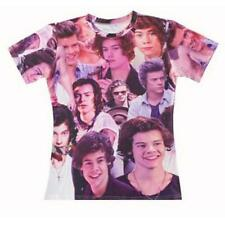 Harry Styles One Direction 1D where we are tour Women Men 3D T-shirt Top Tee Hot