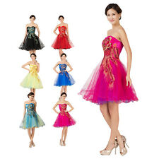 Cheap Short PEACOCK Homecoming Cocktail Dress Prom Party Bridesmaids Grad Gown