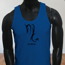 Horoscope Zodiac Water Mars Scorpio Astrological Sign Mens Blue Tank Top