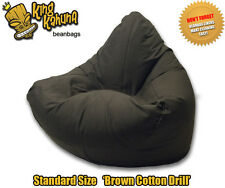 BEAN BAG CHAIR QUALITY NEW LARGE BROWN BEANBAG LOUNGE SOFT GAMING CINEMA THEATRE