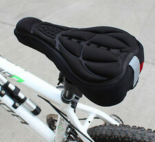 3D Pad Soft Cushion Seat Gel Cover Silicone HOT Cycling Bicycle Bike Saddle DGUK