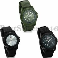 Mens Quartz Wrist Watch Sport Analog Tactical Military Army Nylon Strap Watches