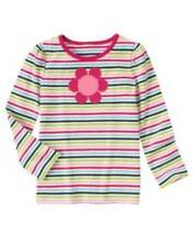 NWT Gymboree Smart and Sweet Long Sleeve Flower Tee Size 4