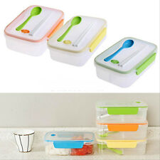 Picnic Bento Lunch Box Portable Food Containers Spoon Chopsticks Sets BPA Free