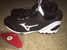 NEW MIZUNO 9 Spike Vintage 7 Switch Mens Baseball Metal Cleats Black White