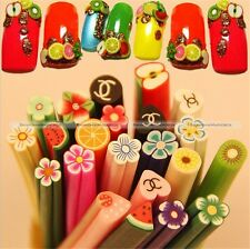 50 DIY 3D Nail Art Fimo Canes Stick Rod Polymer Clay Sticker Tips Decoration S7