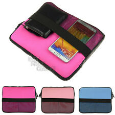 "Tablet Sleeve Outside Mesh Pocket 10"" Laptop Carrying Sleeve Case Notebook Bag"