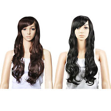 Synthetic Hair Gorgeous Ladies Long Wavy Curly Full Wig  D6