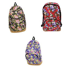 Vintage Women Girl Canvas Travel Satchel Shoulder Bag Backpack School Rucksack