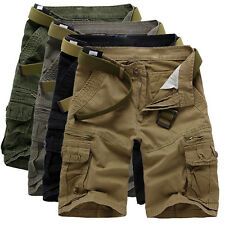 NWT Mens Casual Army Cargo Combat Work Camo Shorts Outdoor Sports Pants Trousers