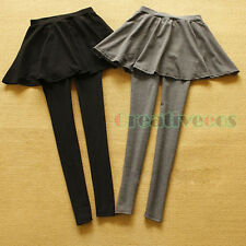 Women's Pleated Hip Package Skirt Stretch Tight Pantskirt Culotte Leggings Pants