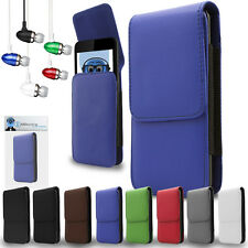 PU Leather Vertical Belt Case And Headphones For Samsung I437 Galaxy Express