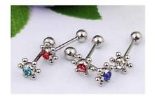 1PC Novelty crystal Tongue Navel Nipple Barbell Rings Bars Body Jewelry Piercing