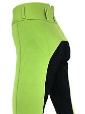 New Ladies Lime Jodhpurs, Green Breeches, Jodphurs, Full Seat Suede Sizes 8-18.