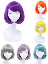 Fashion Women's Sexy Bangs Wigs Straight BOB Hair Cosplay Party Lady Short Wig