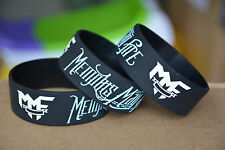 "25pcs/lot MEMPHIS MAY FIRE Silicone 1"" Wide Black Wristband Bracelet"