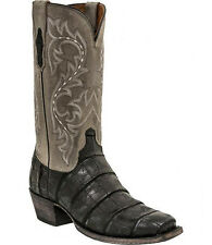 Lucchese M3196 BURKE Black Giant Wild American Alligator Mens Boots
