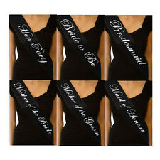 BLACK HEN NIGHT SASH BRIDE ACCESSORIES PARTY SASHES GIRLS NIGHT OUT