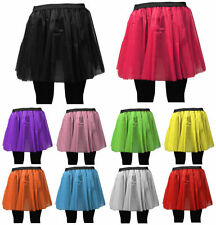 NEW LONG NET NEON NK TUTU SKIRT 80s HEN FLO FANCY DRESS HALLOWEEN PARTY UK Size
