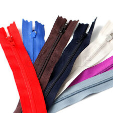 Lots of Assorted 9Inch Nylon Coil Invisible Sewing Zipper Tailor Sewer Craft DE