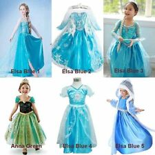 SNOW ELSA KIDS GIRLS ANNA DRESS PRINCESS DRESS. COSTUME COSPLAY FOR FROZEN PARTY