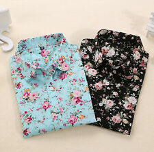 Blouse Blouses Blouses Long Sleeve Shirt Floral Turn Down Collar Tops